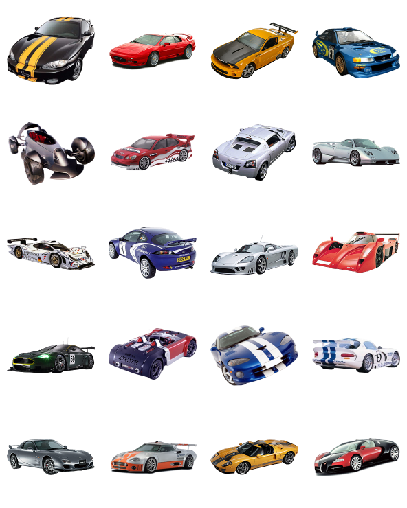 Racing cars icon pack by n a