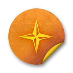 orange,grunge,sticker,badge