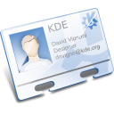 kaddressbook,contact,kde,vcard,business card,profile