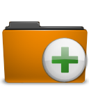 orange,add,folder,archive,plus