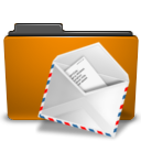 orange,folder,mail,envelop,message,email,letter