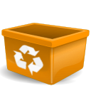 orange,user,trash,empty,recycle bin,blank,account,profile,people,human