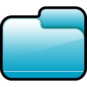 folder,closed,blue