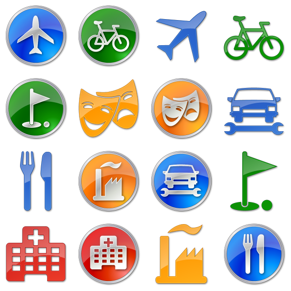Points of Interest Icon Pack by Icons-Land 1 preview images: macsstuff.net/photobov/points-of-interest