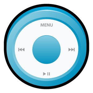 ipod,blue,badge
