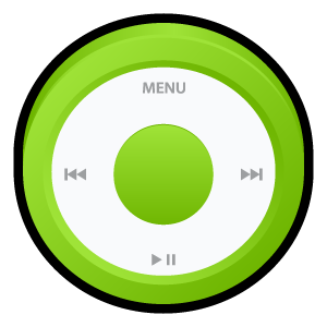 ipod,green,badge