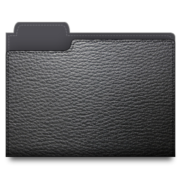 leather,folder,black