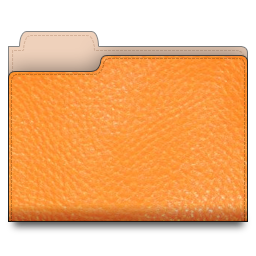 leather,folder,orange