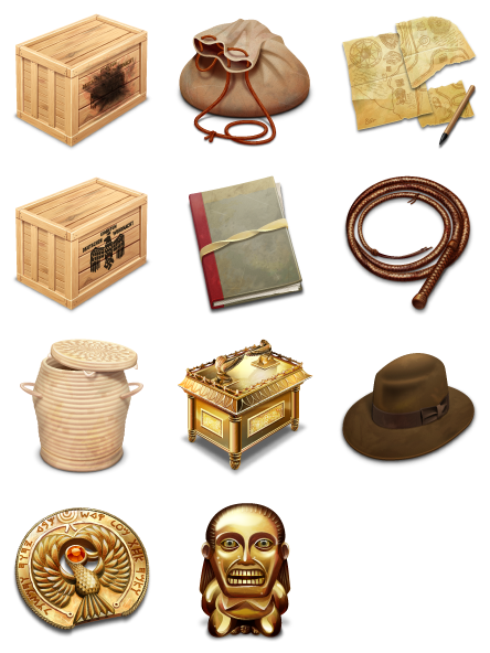 Indiana Jones And The Raiders of The Lost Ark - 11 Free Icons, Icon Search Engine