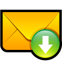 email,download,descending,fall,decrease,down,descend,mail,message,letter,envelop