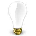 empty,blank,light bulb
