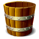 wooden,bucket,empty,blank