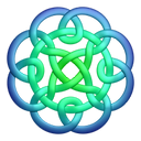 bluegreen,circleknot,knot,knotting