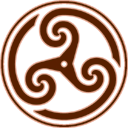 brown,wheeled,triskelion,knot,knotting
