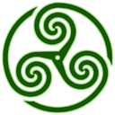 green,wheeled,triskelion,knot,knotting