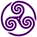 purple,wheeled,triskelion,knot,knotting