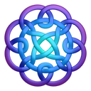 purpleblue,circleknot,knot,knotting