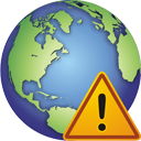 globe,warning,planet,world,earth,alert,exclamation,wrong,error