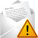 new,mail,warning,envelop,message,email,letter,alert,exclamation,wrong,error