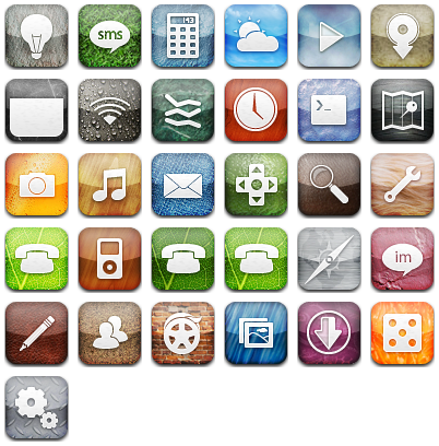 ipod touch icons pack. Chalkwork iPhone amp; iPod Touch