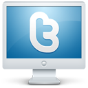 twitter,monitor,display,screen,social,computer,social network,sn