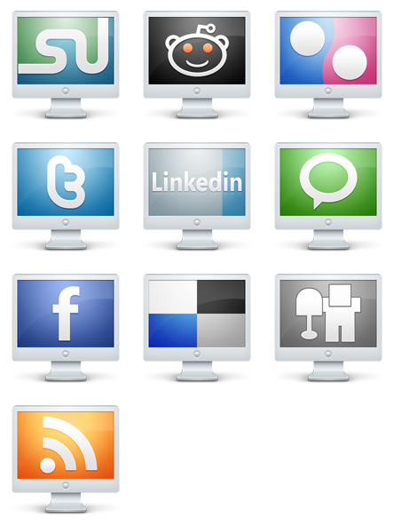 PC Social Media - 10 Free Icons, Icon Search Engine