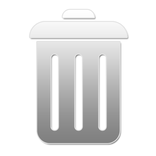 Trash-Recyclebin-Empty-Closed W icons, free icons in ...