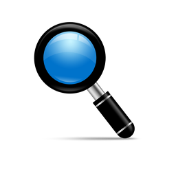 magnifying glass icon blue - photo #46