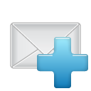 email,add,plus,mail,message,letter,envelop