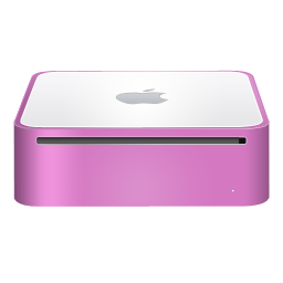 Mac Mini Finshed Pink Icon Png Ico Or Icns Free Vector Icons