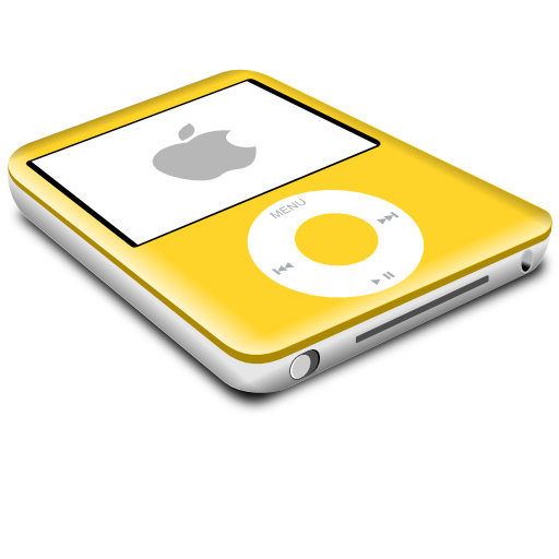 yellow,ipod,nano