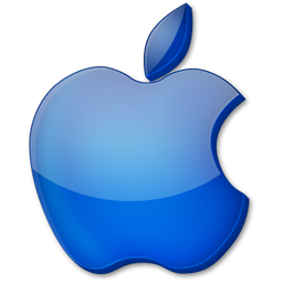 Blue Apple Logo icons, free icons in Apple, (Icon Search ...