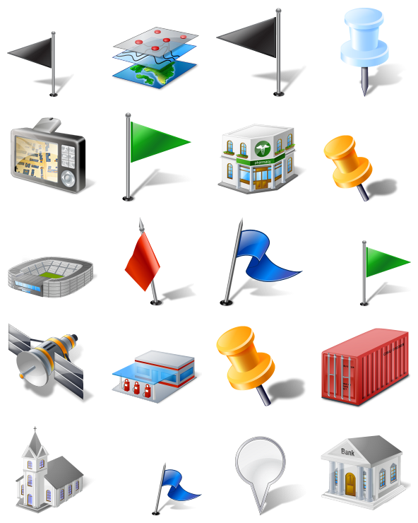 Gis/gps/map Icon Pack by