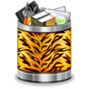tiger,trash,full,animal,recycle bin