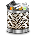 white,tiger,trash,full,animal,recycle bin