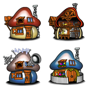 Smurf Houses 4 Free Icons Icon Search Engine
