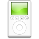 ipod,green,mp3 player