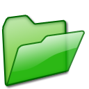 Open Folder green icons, free icons in XP iCandy 1, (Icon ...