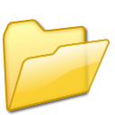 open,folder,yellow