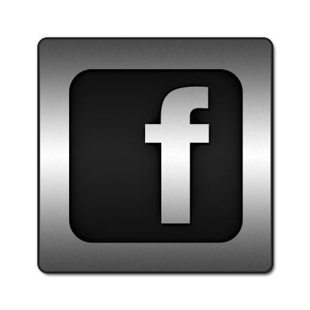 iconsetc-facebook-logo icons, free icons in Black Inlay on Steel