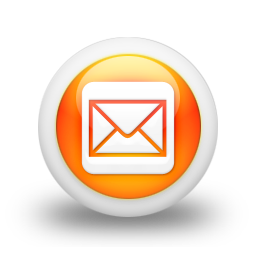 mail-square-webtreatsetc icons, free icons in Glossy Orange Orb Social ...