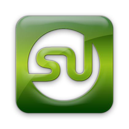 Green Square Logo Stumbleupon,logo,square