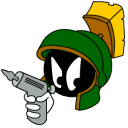 marvin,martian,angry,with,gun