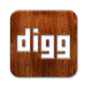 digg,logo,square,wood