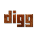 digg,logo,wood