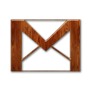 gmail,logo,wood