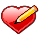 keditbookmarks,bookmark,edit,heart,love,pen,write,writing,valentine,draw,pencil,paint