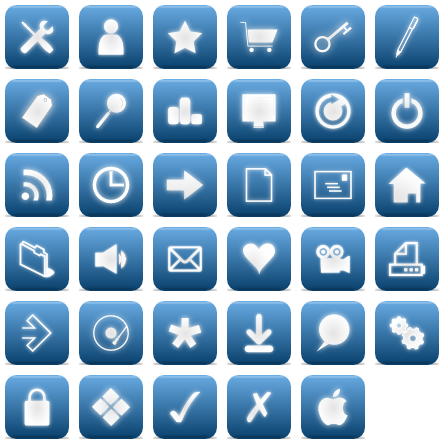 Elegant Blue Web - 35 Free Icons, Icon Search Engine