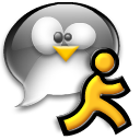 xchat,chat,man,penguin,running,tux,user,talk,comment,speak,account,male,person,people,profile,human,member