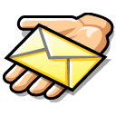 message,email,hand,share,mail,letter,envelop